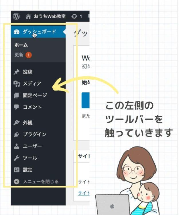 WordPress管理画面のツールバー